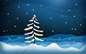Snow tree ecard
