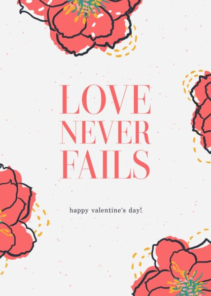 love never fails ecard